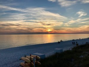 Sunset in Panama City Beach Florida