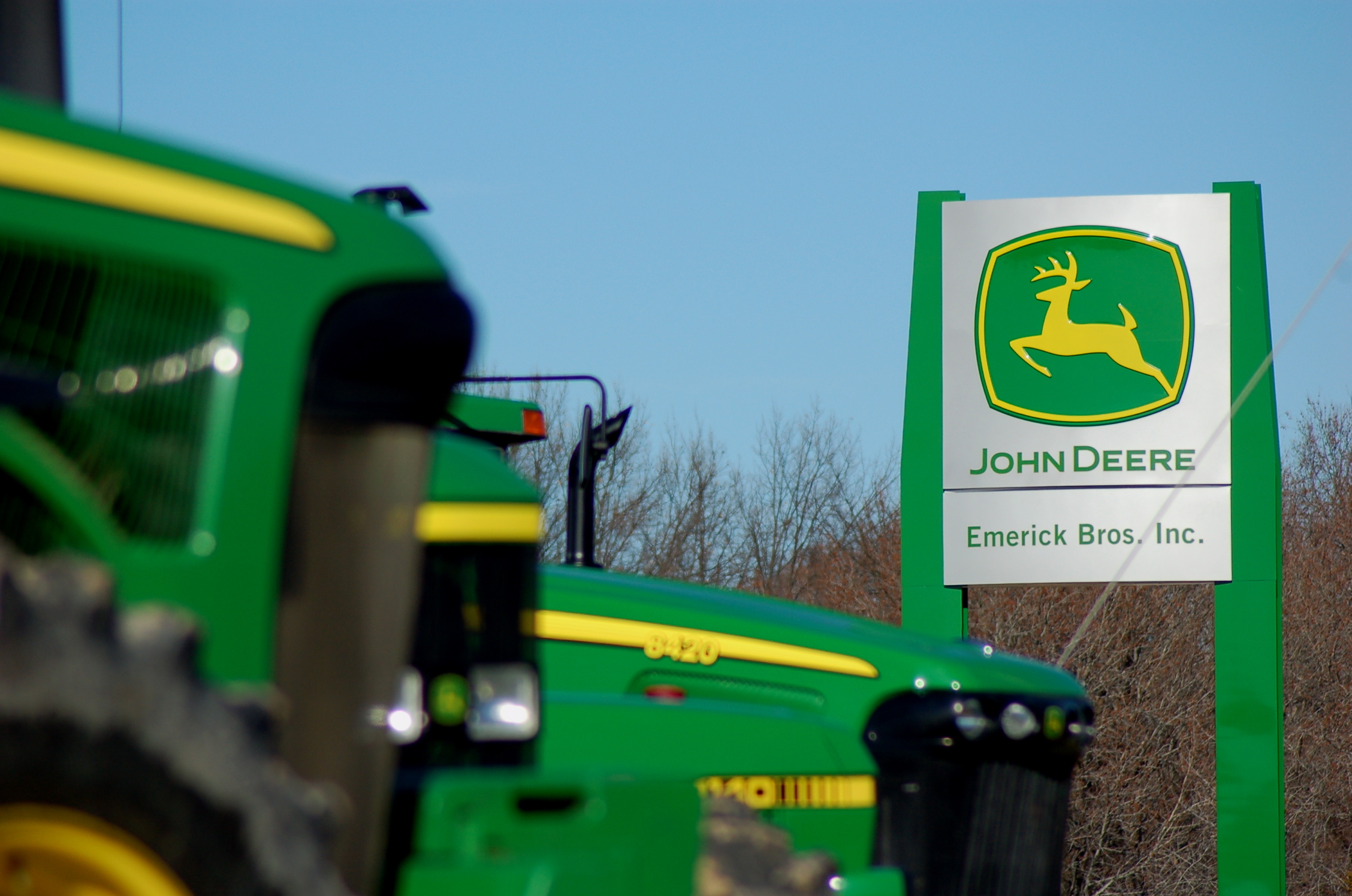 John Deere Dealership Sign
